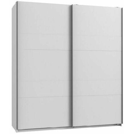 Armoire de rangement AUDE portes coulissantes 135 cm blanc mat - blanc