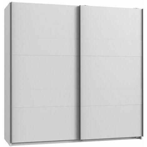 Armoire de rangement AUDE portes coulissantes 179 cm blanc mat - blanc