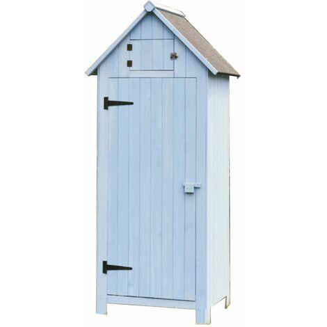 Armoire de rangement bleue ou blanche - 0,41 m²