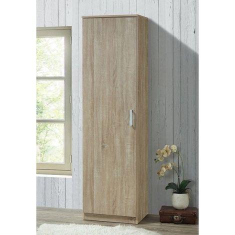 Armoire de rangement BURSA, idéal pour votre entrée, votre buanderie ou encore votre salle de bain. - Marron
