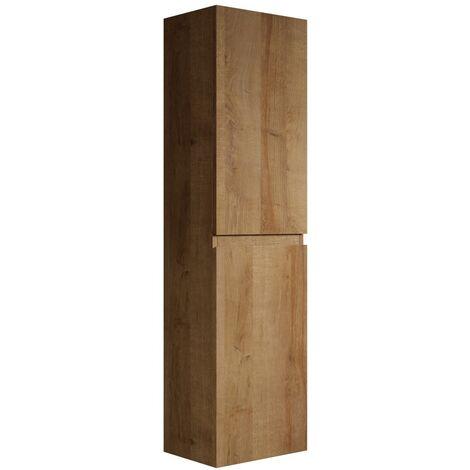 Armoire de rangement de Angela Hauteur 150 cm F. Oak - Meuble de rangement haut placard armoire colonne