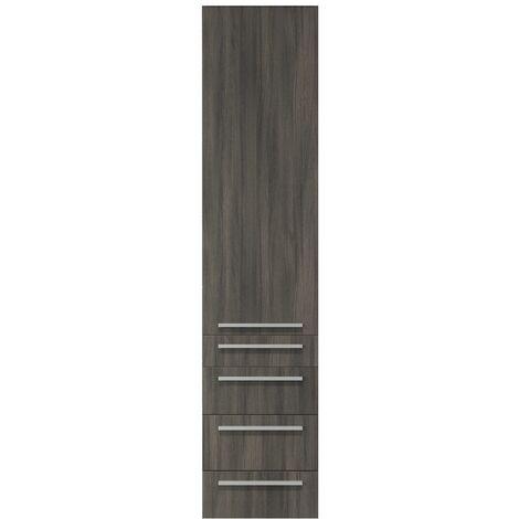 Armoire de rangement de Atlanta Droite Hauteur 176 cm Blanc brillant - Meuble de rangement haut placard armoire colonne