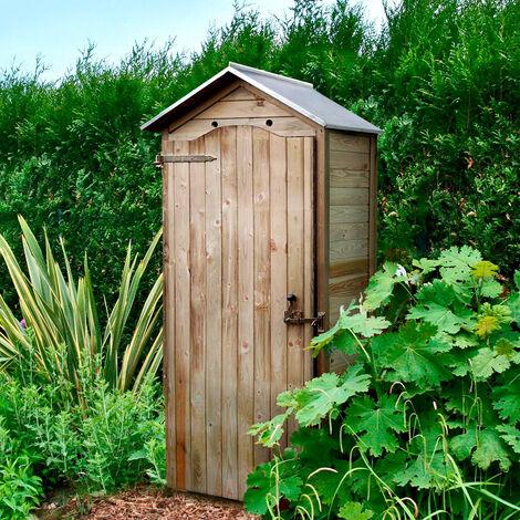 Armoire de rangement de jardin en bois traité 206x88x58cm, Panama