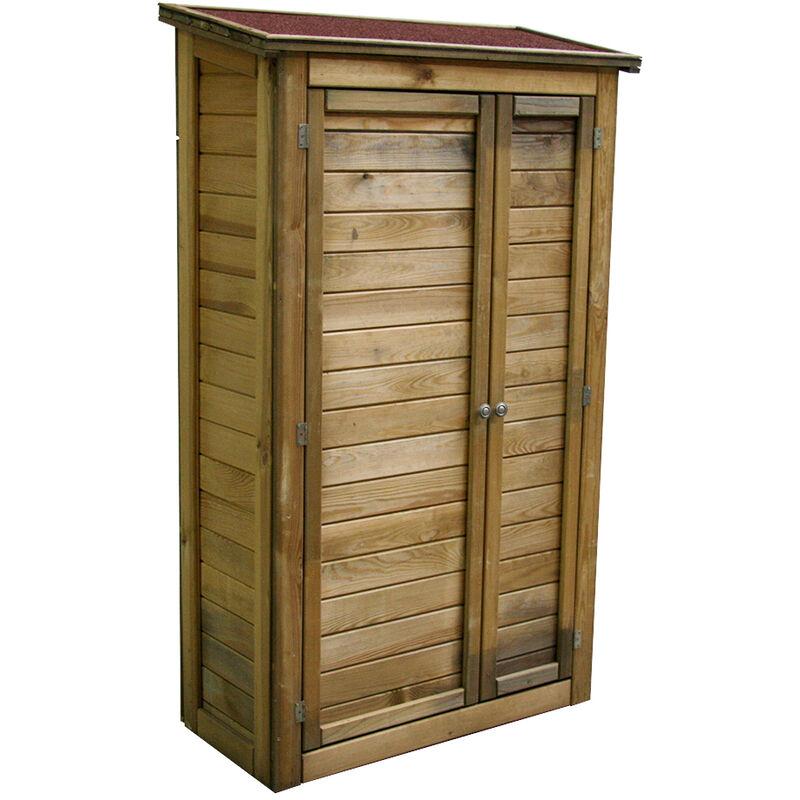 Armoire de rangement de jardin en bois traité 98x45x153cm ...