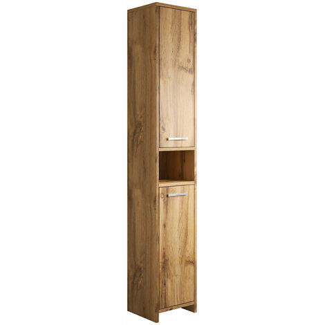 Armoire de rangement de Nemo Hauteur: 167 cm Blanc brillant - Meuble de rangement haut placard armoire colonne