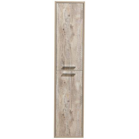 Armoire de rangement de Tulum Hauteur 160 cm Nature wood - Meuble de rangement haut placard armoire colonne