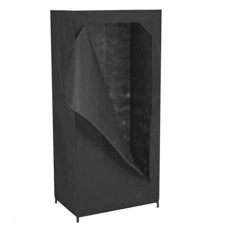 Armoire de rangement dressing 1 porte Noir 46 cm