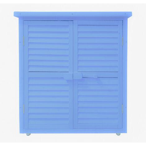 """main image of """"armoire de rangement lasurée 0.40m² bleu - box0905 - habrita"""""""