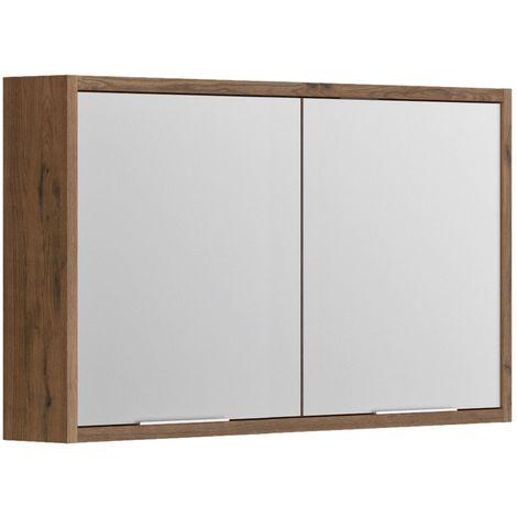 Armoire de rangement miroir salle de bain 120 cm SORENTO