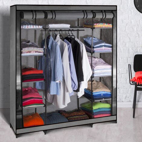 Armoire de rangement Paris dressing penderie XXL tissu