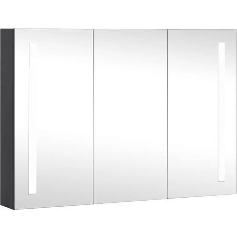 """main image of """"Armoire de salle de bain à miroir à LED 89x14x62 cm"""""""