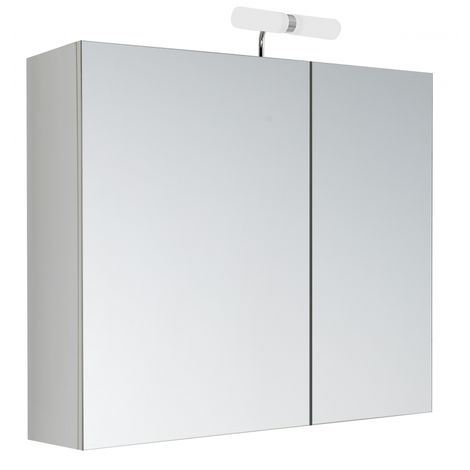 Armoire de toilette 60 cm éclairante Kle'o blanc mat