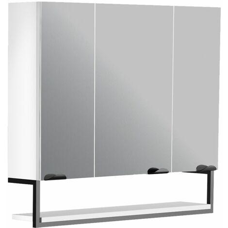 Armoire de toilette 80 cm Faktory blanc mat