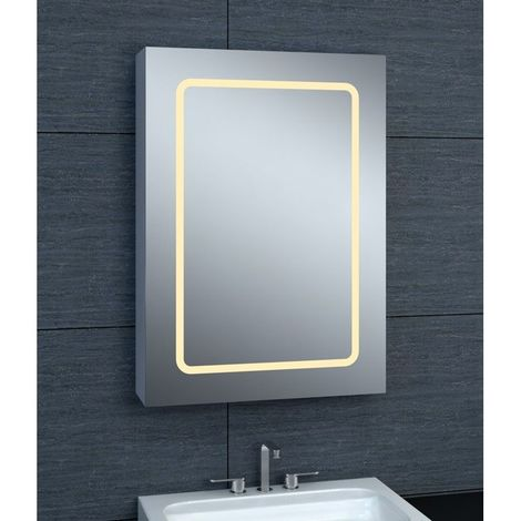Armoire de toilette aluminium - Modèle JA 50 - 70 cm x 50 cm (HxL)