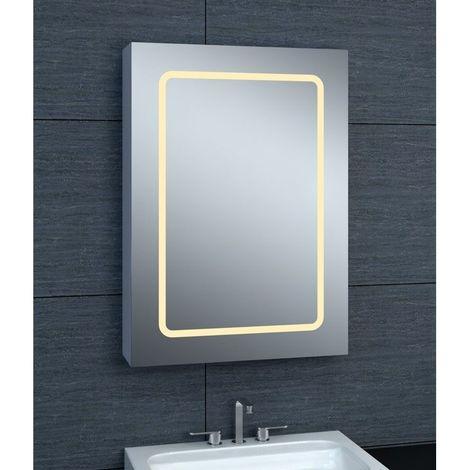 Armoire de toilette aluminium - Modèle JA 50 - 70 cm x 50 cm (HxL) - Gris