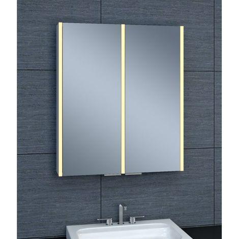 Armoire de toilette aluminium - Modèle NEV 60 - 70 cm x 60 cm (HxL)