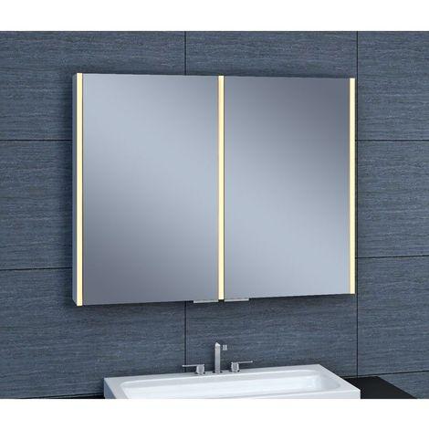 Armoire de toilette aluminium - Modèle NEV 90 - 70 cm x 90 cm (HxL)