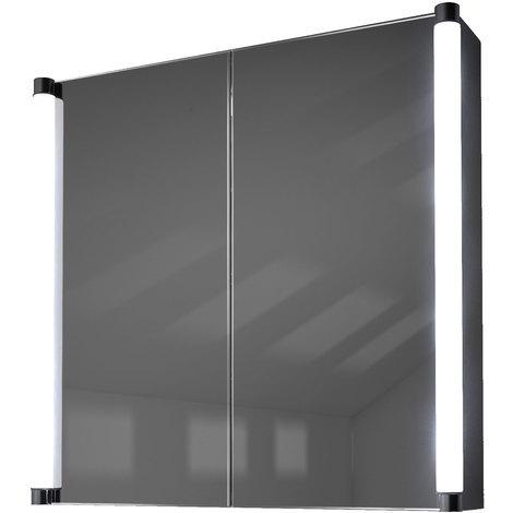 Armoire De Toilette Anti-Buée Avec Capteur Et Prise Rasoir Intérieure K317W - Couleur LED : Blanc