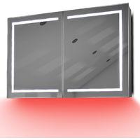 Armoire De Toilette Anti-Buée Avec Capteur Et Prise Rasoir Intérieure K374R - Couleur LED : Rouge
