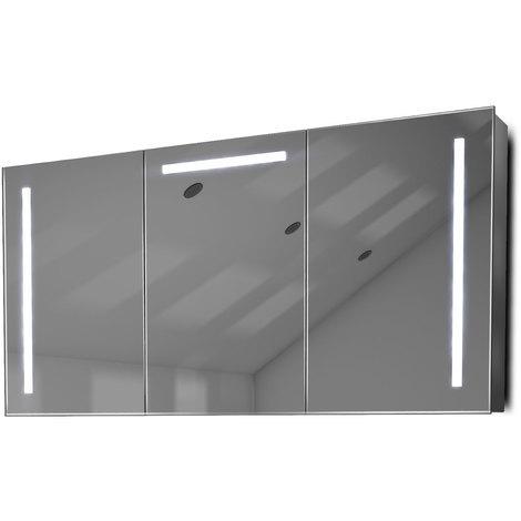 Armoire De Toilette Anti-Buée Avec Capteur Et Prise Rasoir Intérieure K378W - Couleur LED : Blanc