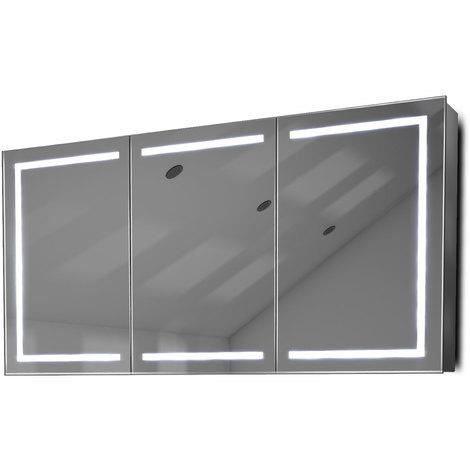 Armoire De Toilette Anti-Buée Avec Capteur Et Prise Rasoir Intérieure K380W - Couleur LED : Blanc