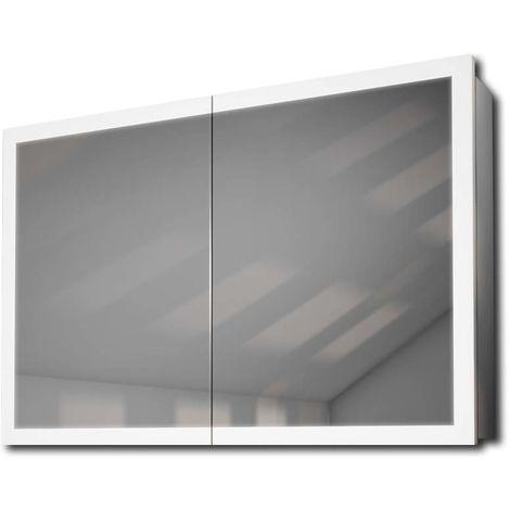 Armoire De Toilette Avec Capteur Et Prise Rasoir Intérieure k466W - Couleur LED : Blanc
