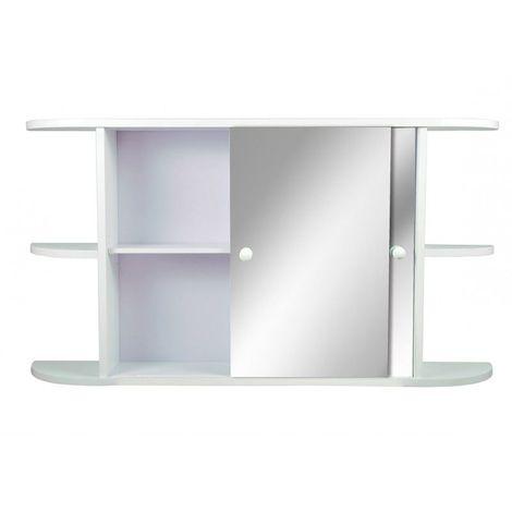 Armoire de toilette Blanc - Etagères extérieures - 51 cm x 95 cm (HxL) - Blanc