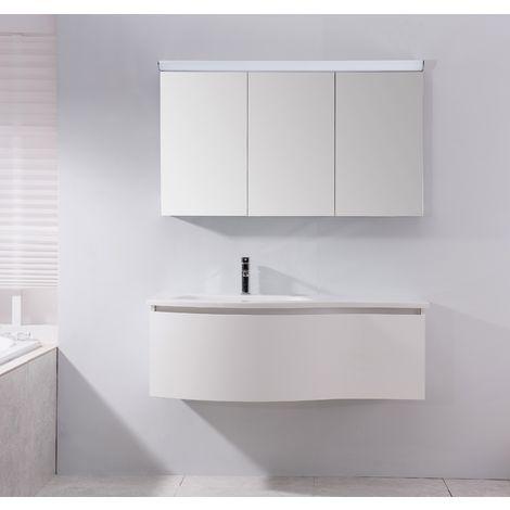 Armoire de toilette BS120 avec éclairage LED