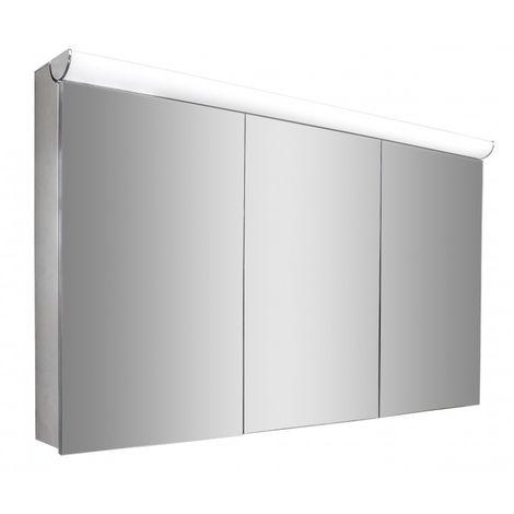 Armoire de toilette BS120 avec éclairage LED et prise électrique