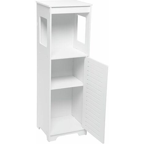 Armoire de toilette de salle de bain 89x28x25CM Rangement d'étagère debout de salle de bain