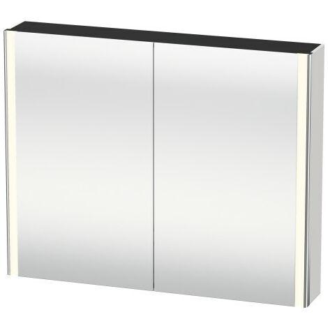 Armoire de toilette Duravit XSquare avec éclairage LED 100,0x15,6 cm, Couleur (avant/corps): Décor graphite mat - XS711304949