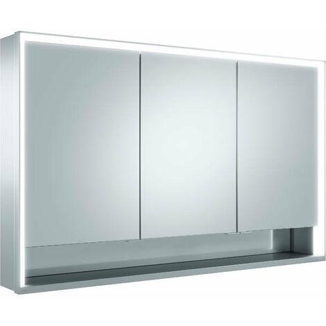 Armoire de toilette Keuco Royal Lumos 14305, 3 portes pivotantes, murale, 1200mm - 14305171301