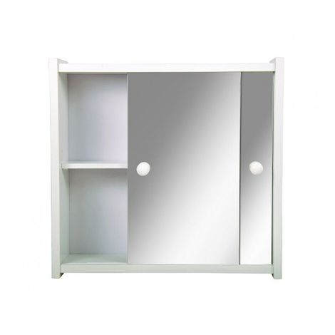 Armoire de toilette - Le bohème - 41,5 cm x 43,5 cm (HxL) - Blanc