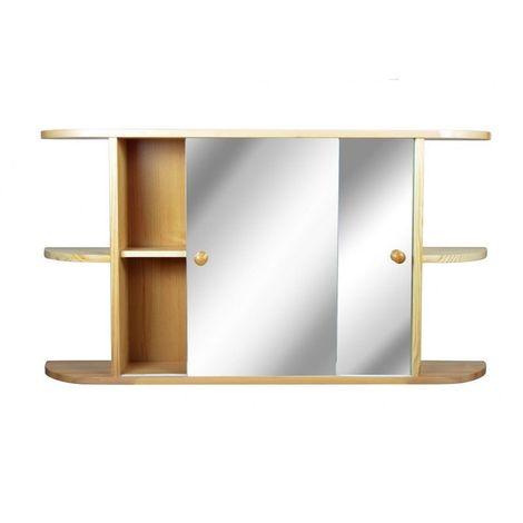 Armoire de toilette Pin- Etagères extérieures - 51 cm x 95 cm (HxL) - Pin naturel