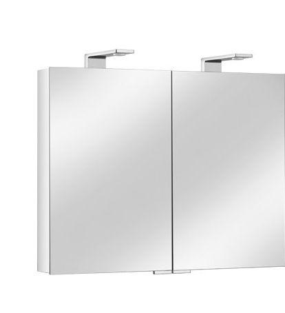 Armoire de toilette ROYAL Universe - 2 portes - Dimensions 800 x 752 x 143 mm - Finition : argent anodisé/chromé