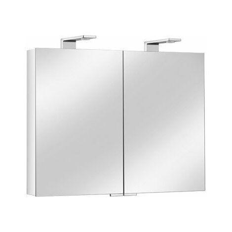 Armoire de toilette ROYAL Universe - 3 portes - Dimensions 1300 x 752 x 143 mm - Finition : argent anodisé/chromé