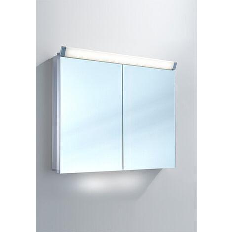 Armoire de toilette Schneider PALILine 100 / 2 / LED 159.100, Exécution: CH standard sans poignées - 159.100.01.50