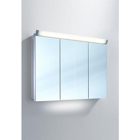 Armoire de toilette Schneider PALILine 100 / 3 / LED 159.101, Exécution: CH standard sans poignées - 159.101.01.50
