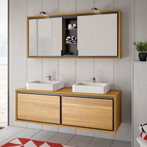 Armoire de toilette suspendue 140 cm - Dom
