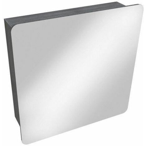Armoire De Toilette Taupe Avec Miroir L60 X H60 Tiga