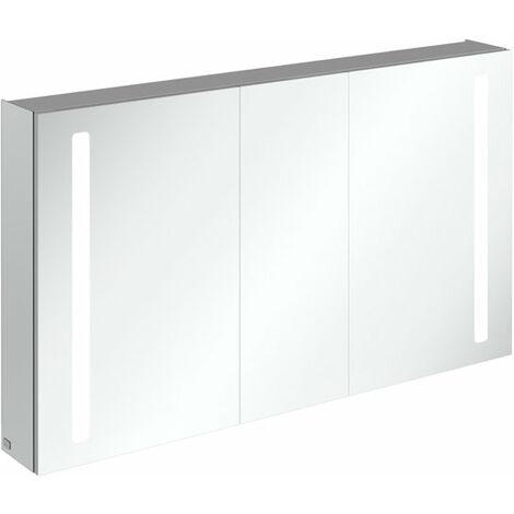 Armoire de toilette Villeroy & Boch My View 14+ A43313, 1300 x 750 x 173 mm, avec éclairage LED vertical, pharmacie verrouillable - A4331300