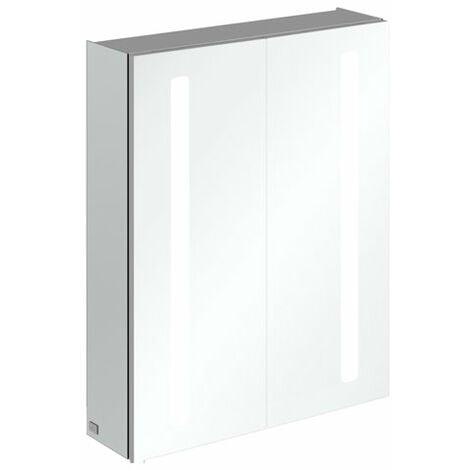 Armoire de toilette Villeroy & Boch My View 14+ A43360, 600 x 750 x 173 mm, avec éclairage LED vertical, pharmacie verrouillable - A4336000