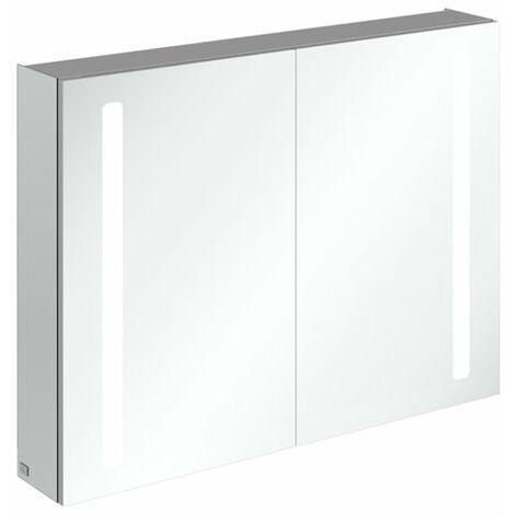 Armoire de toilette Villeroy & Boch My View 14+ A43380, 800 x 750 x 173 mm, avec éclairage LED vertical, pharmacie verrouillable - A4338000