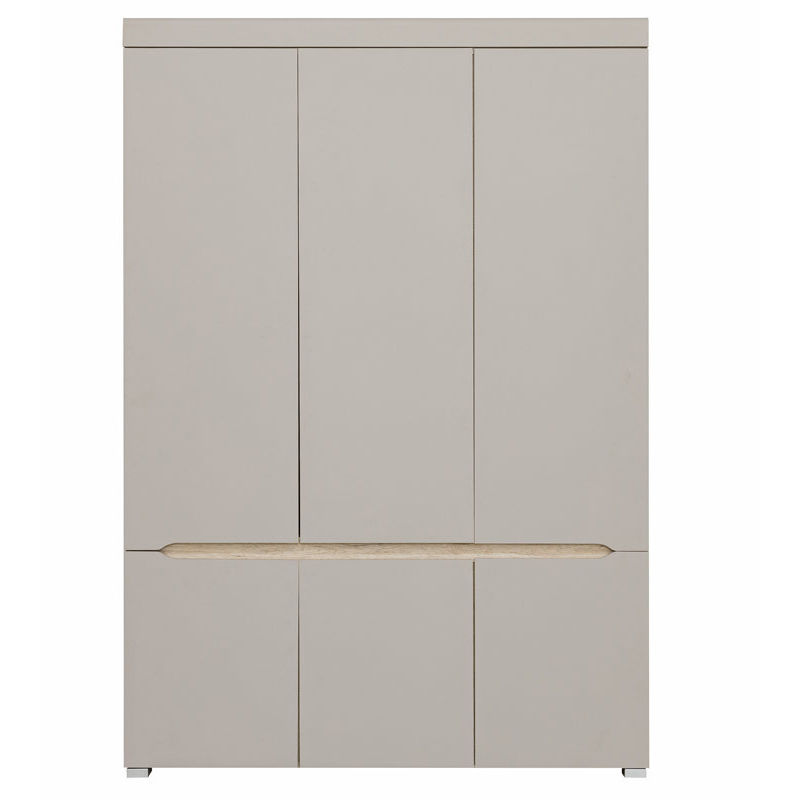 Armoire design 6 portes avec penderie et miroir WILLY - 46318