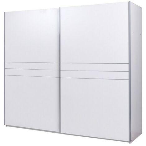 Armoire double portes coulissantes Design pour votre chambre à coucher, collection COMO. - Blanc