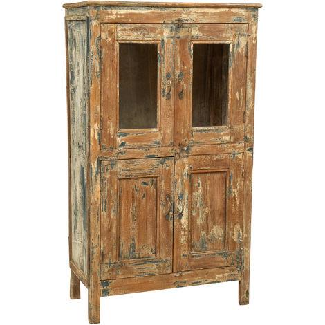 Armoire en bois massif recyclé à finition antique