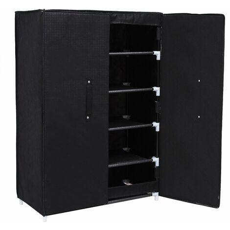 Armoire étagères à chaussures 6 couches avec porte 61 x 28 x 89cm RXA16H