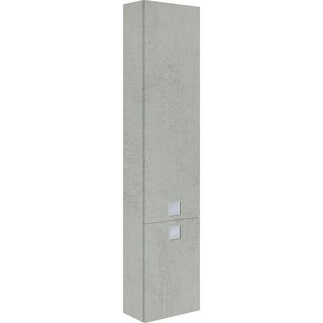 Armoire haute, decor chene gris pierre Série MBL 2 portes ouverture droite 350x1625x208 mm