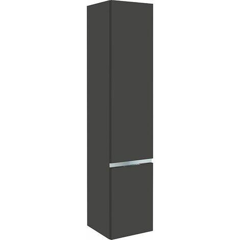 armoire haute MBH 2 portes anthracite brillant, butée à droite 350x1655x370mm