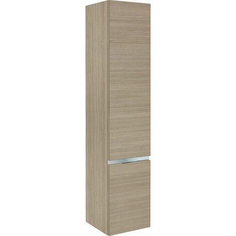 armoire haute MBH 2 portes melèze marron clair, butée à droite 350x1655x370mm